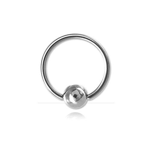 Ring Kugel Stahl für micro-piercing–Armreif/Schaft 0,6mm, Durchmesser 6mm, Kugel 2,5mm