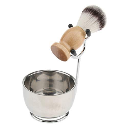 Fenteer Rasier-Set mit Schale, Pinsel, Pinselhalter Rasierständer, Männer Geschenk Set