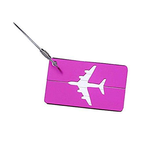 Leisial 2 Stück Kofferanhänger Gepäckanhänger Namensschilder aus Aluminiumlegierung-Lila