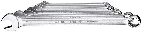 Gedore 7 XL-080 Jeu de 8 clés mixtes 8-19 mm (Import Allemagne)