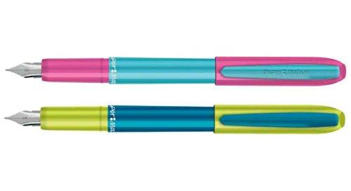 reynolds-lot-de-3-stylos-plume-acier-fine-corps-plastique-bicolore-monobloc-coloris-alatoire