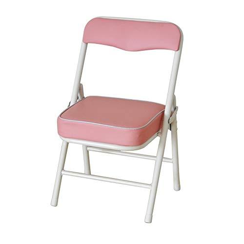 ZZW Kinder Klappstuhl, Nordic Freizeitheim Junge Und Mädchen Arbeitsstuhl Tragbares Wohnzimmer Schlafzimmer Arbeitsstuhl (Color : Pink)