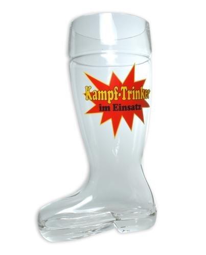 Bierstiefel XXXL Kampftrinker - aus Glas, Füllmenge: 2,4 ltr.