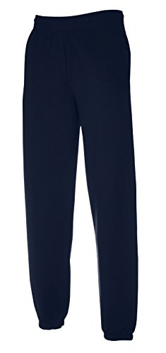Fruit of the Loom Premium Elasticated Cuff Jog Pants in Deep Navy Größe: XXL (Loom Sweatpant)