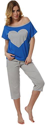 Italian Fashion IF Damen Schlafanzug Elisabet 0225 Saphir
