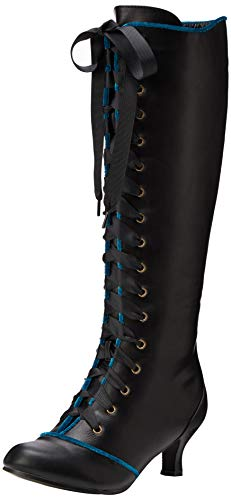 JOEBF|#Joe Browns Damen Spellbound Tall Lace Up Boots Hohe Stiefel, (Black Multi A), 8 EU