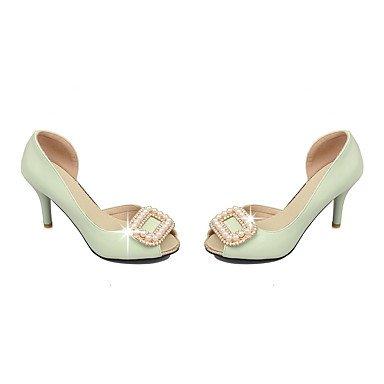 LvYuan Da donna-Sandali-Ufficio e lavoro Formale Serata e festa-Club Shoes-A stiletto-PU (Poliuretano)-Verde Rosa Bianco White