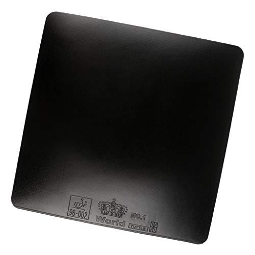 SM SunniMix Tischtennisschläge Gummi Schwamm 2,2 mm PingPong Paddel Ersatzgummi - Schwarz