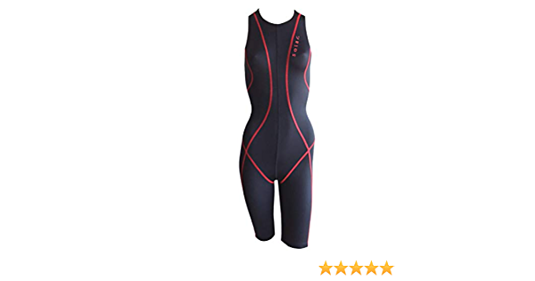 Solar Schwimmanzug mit R/ückenrei/ßverschluss Dry Weave schwarz//rot