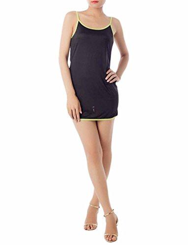 iB-iP Damen Slashed Back Bodycon Tank Top Camosole Mini Chemise Dessous, größe: M-L, (Cher Costume Pas Paris)