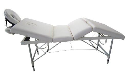 G4w lettino massaggi 4 zone portatile estetista tattoo massaggio alluminio