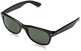 Ray-Ban RB2132 New Wayfarer Sunglasses, Black (901/58), 52 mm