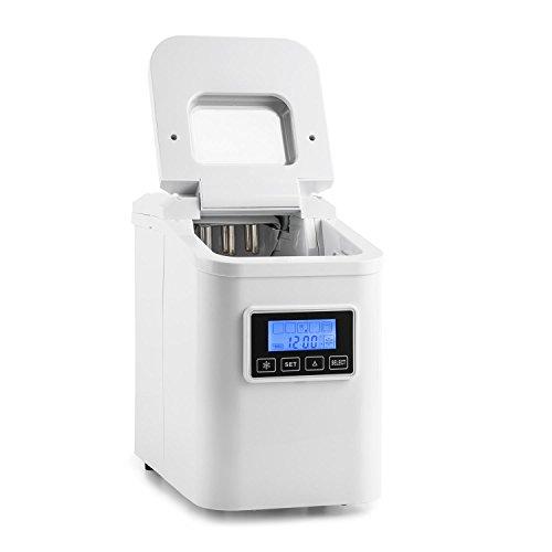 Klarstein Lannister White Edition - Máquina de cubitos de hielo, 10kg /día, 3 tamaños, Tanque 1,1l...