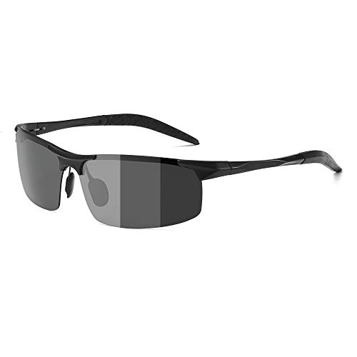 ZealBea Focus Occhiali da Sole polarizzati (Nero)