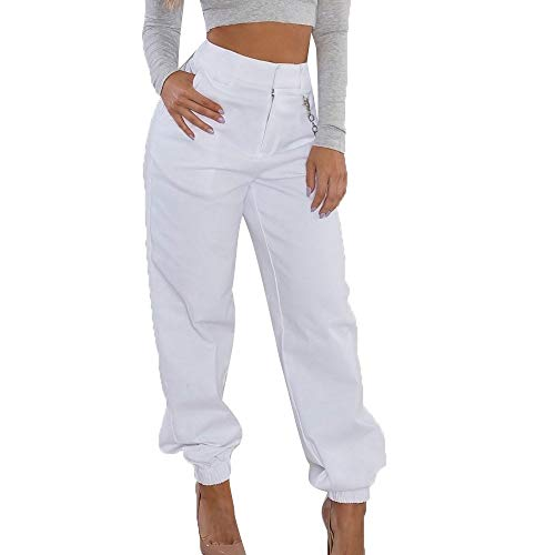 2ac7e7d334cfe1 Beudylihy Pantalone Largo Donna con Catena e Tasche Baggy Hip Hop Harem  Pants Punk Rock Lunghi