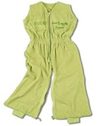 Baby Boum Unisex Baby Lightweight Cotton Rich 1.0 Tog Sleeping Bag  Jumpsuit with 3D Wording Rules Don't Apply To Me Sleepsuits
