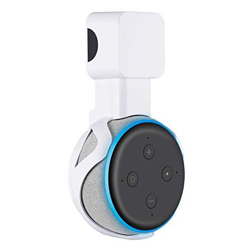 Sonomo Halterung Wandhalterung für Dot (3. Gen.), Ständer für Dot 3nd Generation Sprachgesteuerter Lautsprecher, Keine Störenden Kabel und Platzsparen - Weiß