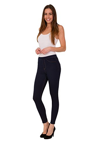 Ex Marks & Spencers 8604 Collection Pull On Jeggings Cotton Rich Added Stretch
