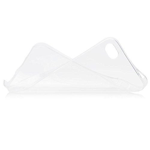 iCues Apple iPhone 4/4S |  Zero Klar Case Schwarz | [Display Schutzfolie Inklusive] Extra Leicht sehr Dünn Transparent Klarsichthülle Durchsichtig Klare Klarsicht Schutzhülle Hülle Cover Schutz Weiss