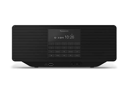 Panasonic RX-D70BTEG-K Digitalradio mit CD (DAB+, Stereo Klang, Bluetooth, UKW, Netz- & Batteriebetrieb, AUX, Weckfunktion)