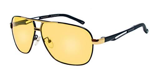 rainbow safety Herren Selbsttönende Sonnenbrille Auto Brille Nachtsichtbrille Photochromatische Polarisierte Gläser RWNP5 (Nachtfahrbrille Cat.1-2)