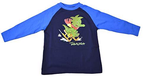 Tabaluga Dunkelblau/Hellblau T-Shirt Langarm Gr. 98 Shirt Peter Maffay Abenteuer Motivshirt Baum des Lebens