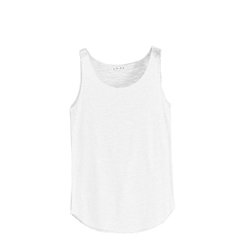 VENMO Ropa Camiseta de Tirantes para Mujer,Venmo Las Mujeres del Tanque de Verano-Cuello Redondo sin Mangas Camisetas Sueltas Chaleco (Blanco, Busto: 84cm-120cm)