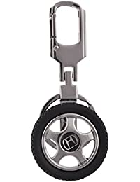 SLN Honda Spinning Tyre Rotary Wheel Locking Metal Keychain , Keyring , Key Ring , Key Chain For Cars Bikes Bags...