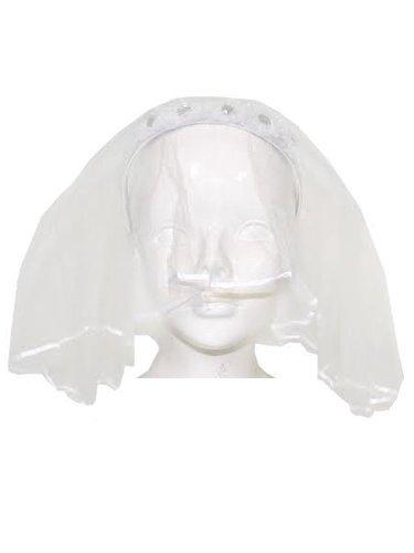 Haarreif mit Brautschleier für Mädchen zum Kostüm oder für Damen zum Junggesellinnenabschied (Satin-band-hut)