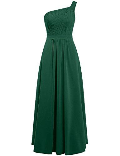 HUINI Damen Modern Kleid Dark_Green