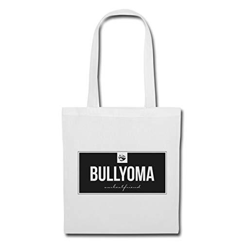 Spreadshirt Bully Oma Bulldogge Bullyoma Hund Stoffbeutel, Weiß -