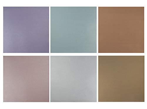 Scrapbook-Papierblock, Metallic, verschiedene Farben, 30,5 x 30,5 cm, 48 Blatt (Shabby Chic Scrapbook-papier)