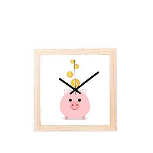 Enhusk 2019 Maskottchen glück Tier niedlichen Schwein Nicht tickt Platz stille Holz Diamant große Display digital Batterie wanduhren malerei zifferblatt für küche Kind Schlafzimmer Home Office Decor