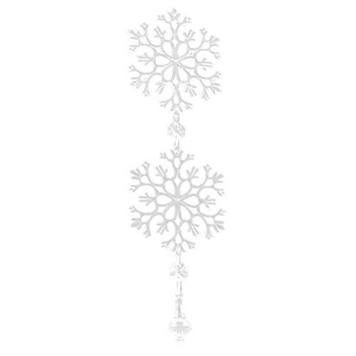 Kristall ketten diy schneeflocke glas hängen strang für fenster auto dekoration 10 stück (1#) (Schneeflocke Glas Ornamente)