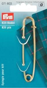 Prym 76mm Messing Kilt Pin, Gold