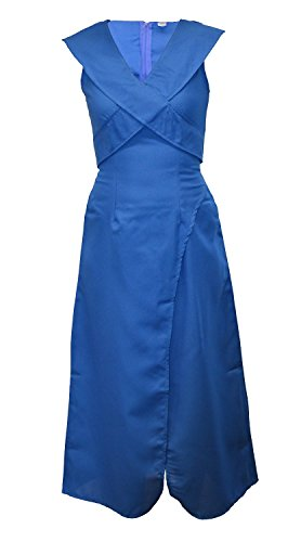DAENERYS TARGARYEN KHALEESI GAME OF THRONES Köstum Costume Fancy Dress Karneval Halloween (Women: 34-36, Blau)