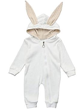 sunnymi Newborn Baby Langarm★Mädchen Junge Mit Kapuze Hase Spielanzug ★Geschenk Kleidung Weihnachten Party Anzug
