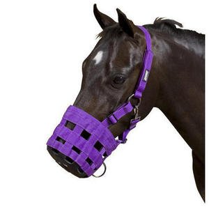 William Hunter Equestrian Hy Muzzle - full - purple (Hy Maulkorb, Warmblut, Lila)