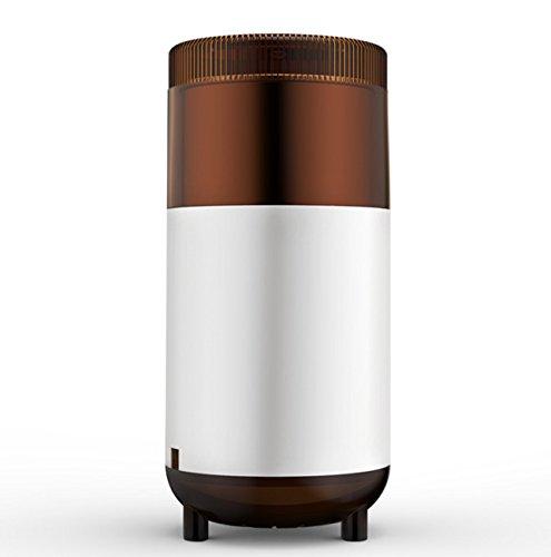 NANXCYR Manuelle elektrische Kaffeemühle Mühle kleine Körner Kräutermühle, for trockene Gewürze Nüsse Samen mit Mahlgrad und Tassenauswahl, Edelstahlklingen tragbare Reisekaffeemaschine (Kräuter Hause Zu Trockene)