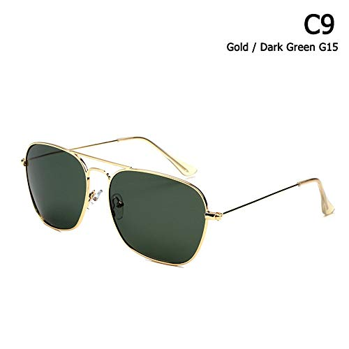 ZHOUYF Sonnenbrille Fahrerbrille Klassische Caravan Stil Polarisierte Quadratische Luftfahrt Sonnenbrille Männer Vintage Retro Brand Design Sonnenbrille Oculos De Sol, F