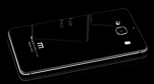 HIGAR Luxury Glass Back Aluminium mobile Battery back Panel replacement Case Cover for Xiaomi Redmi 2 / Xiaomi Redmi 2 Prime With MRP Label - All Black