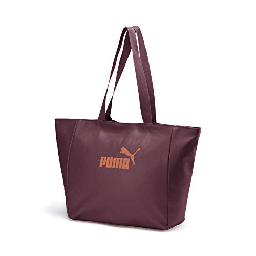 PUMA Damen WMN Core Up Large Shopper umhängetasche, Vineyard Wine-Metallic, OSFA
