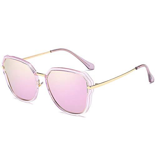 Polarisierte Sonnenbrille Frauen Bunte Sonnenbrille Cat Eye Treibende Brille Uv-Schutz, Geeignet Für Dekoration, Einkaufen, Reisen, Sonnenschutz. (Color : Purple pink)