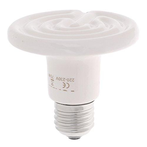 Homyl E27 Wärmelampe Keramik Infrarot-Wärmestrahler Infrarotlampe Heizstrahler Heizung Glühbirne für Reptilien - 75W (150 Watt Keramik-infrarot-wärme)