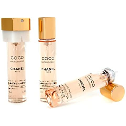 Chanel COCO MADEMOISELLE edt spray 3x20 ml refill