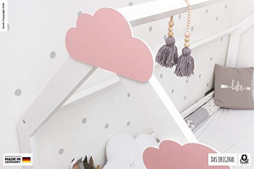 luvel (M6) – 3er Set XXL Wolken mit 3D-Effekt als Kinderzimmer Deko Wandtattoo Kinderzimmer 30×15 cm 5mm Kunststoff (rosa) - 6