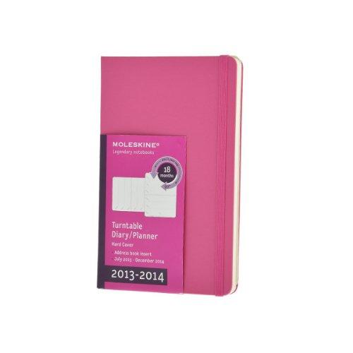 Moleskine Pocket Size 18 2014 Weekly Turntable Notebook - Dark Pink por Moleskine
