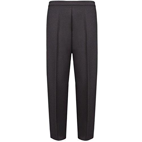MyShoeStore® - Pantaloni da donna, stile casual ma formale, con elastico in vita, adatti per l'ufficio e il lavoro, con tasche, taglie dalla M alla 4XL Brown
