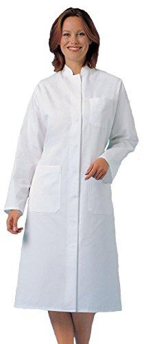 clinicfashion 11314002 Damen Visitenmantel Mantel weiß, Stehkragen, Mischgewebe, Größe 40