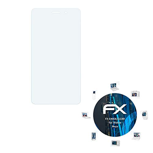 atFolix Schutzfolie kompatibel mit Bluboo Maya Panzerfolie, ultraklare & stoßdämpfende FX Folie (3X)